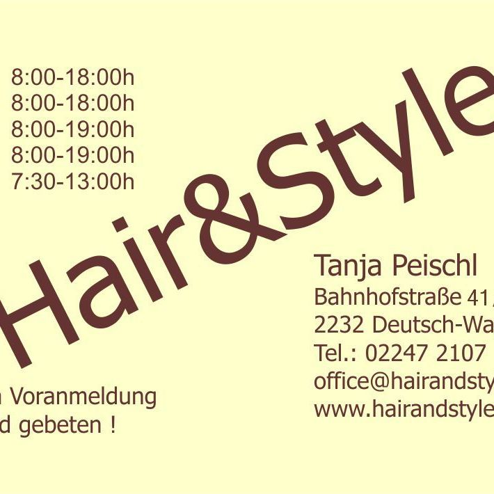 Hair and Style Tanja Peischl